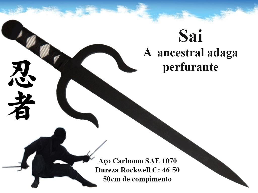 Adaga Sai Arma Ninja Shinobi Katana Espada Samurai Karate - R$ 57,99 ...