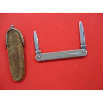 Antigo Canivete - Duplo Sheffield Aço Carbono .