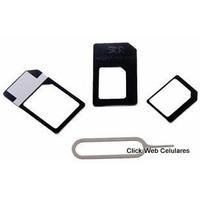 3 Kit Adaptador Simcard + Microchip + Nanochip Noosy Yellow