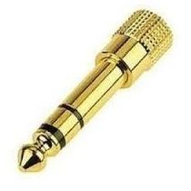Plug Adaptador Dourado P2 / P10 Stereo Para Fone De Ouvido