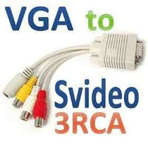 Vga Para Tv - Cabo Adaptador, Conversor S-video Rca
