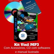 Kit Conversor De Discos De Vinil Lp Bolachão Em Mp3 Facil