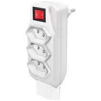Pino Multiplicador 10a 4t 2p+t Branco Com Interruptor Comtac