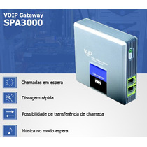 Ata Gateway Voip Linksys Spa3000 1 Fxo 1 Fxs Garantia 1 Ano