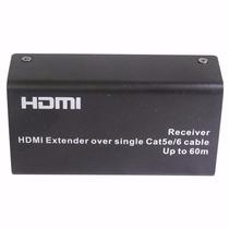 Extensor Hdmi Conversor Adaptador 60m Cat5/6 Cabo De Rede