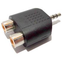 Plug Adaptador 2x Rca Femea X P2 3.5mm Macho Áudio Jack