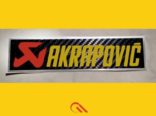 Adesivo - 49 - Akrapovic Para O Escapamento De Sua Moto