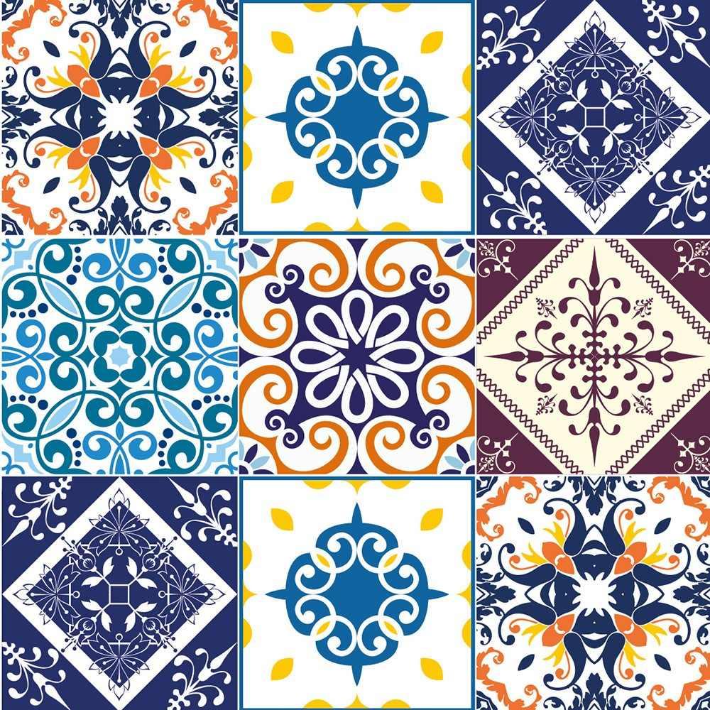 Adesivo azulejo portugu s r 35 00 no mercadolivre - Azulejos pared ...