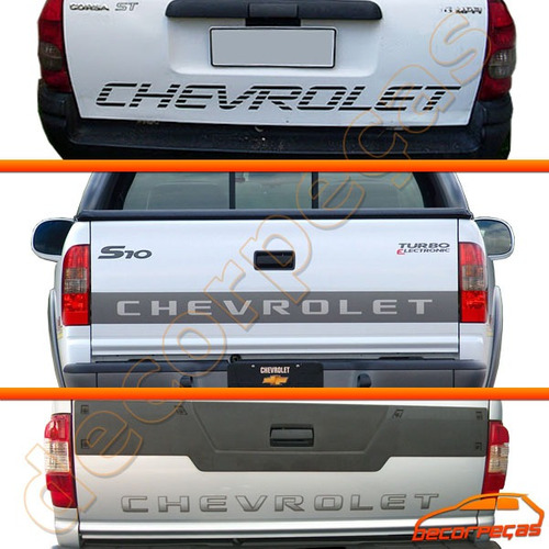 Adesivo Chevrolet Tampa Caçamba S10 Blazer D20 Corsa Pick-up