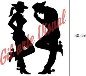 Adesivo Country Casal - Cowboy E Cowgirl R$ 10,00 O Par