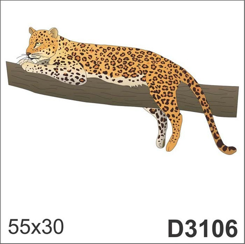 Armario Niños Ikea ~ Adesivo D3106 Tire Onça Pintada Animal Decorativo De