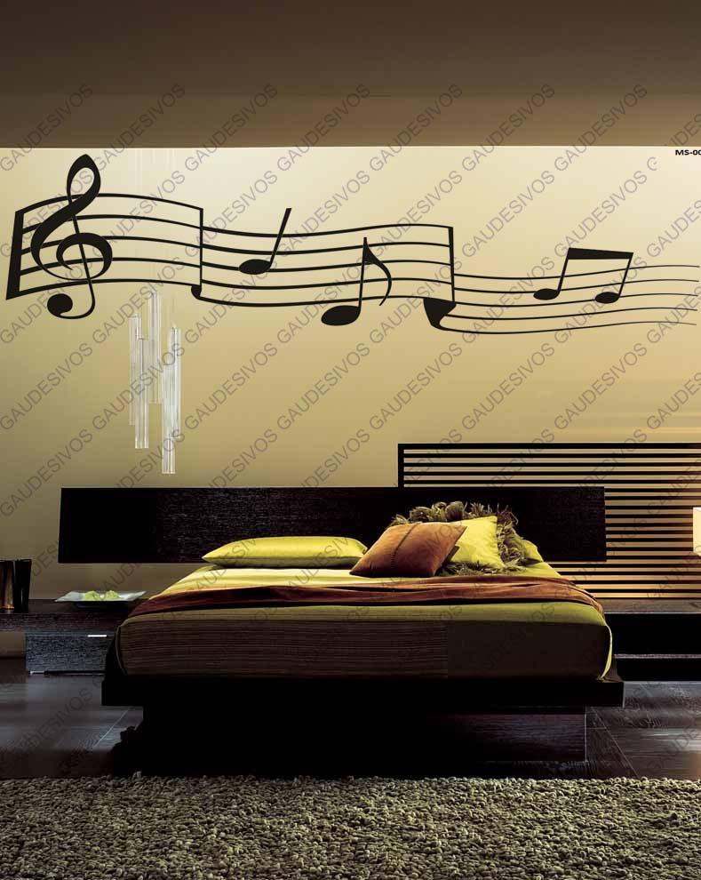 Aparador Wahl É Bom ~ Adesivo De Parede Decorativo Nota Musical Extra Grande Sala R$ 34,99 no MercadoLivre