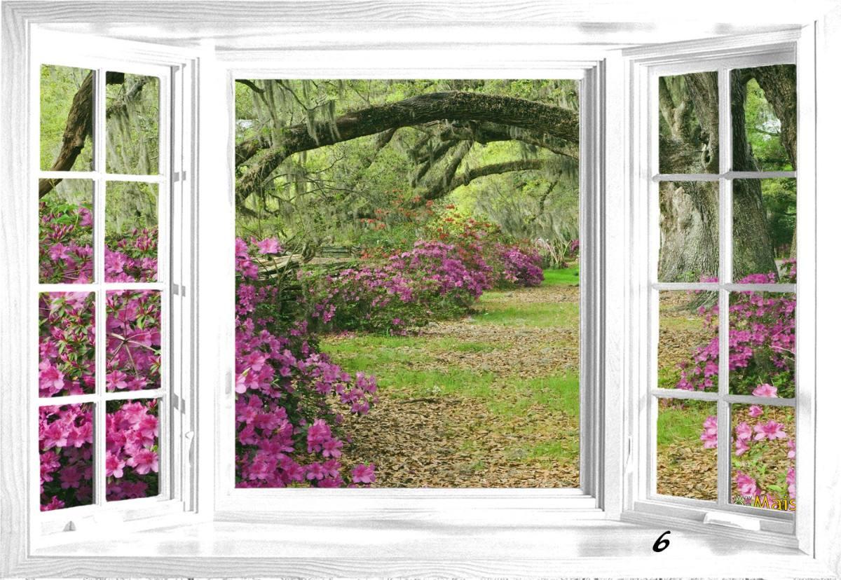 #8D3F6A adesivo de parede janela paisagem 3510 Adesivo Para Escurecer Janela