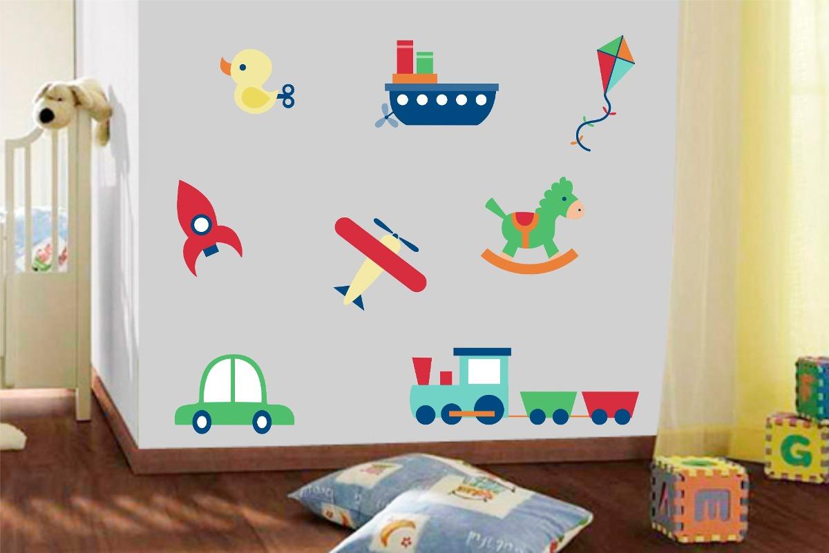 Adesivo De Parede Quarto Infantil Kit Carrinhos Foguete  ~ Adesivo De Parede Quarto Infantil Carros