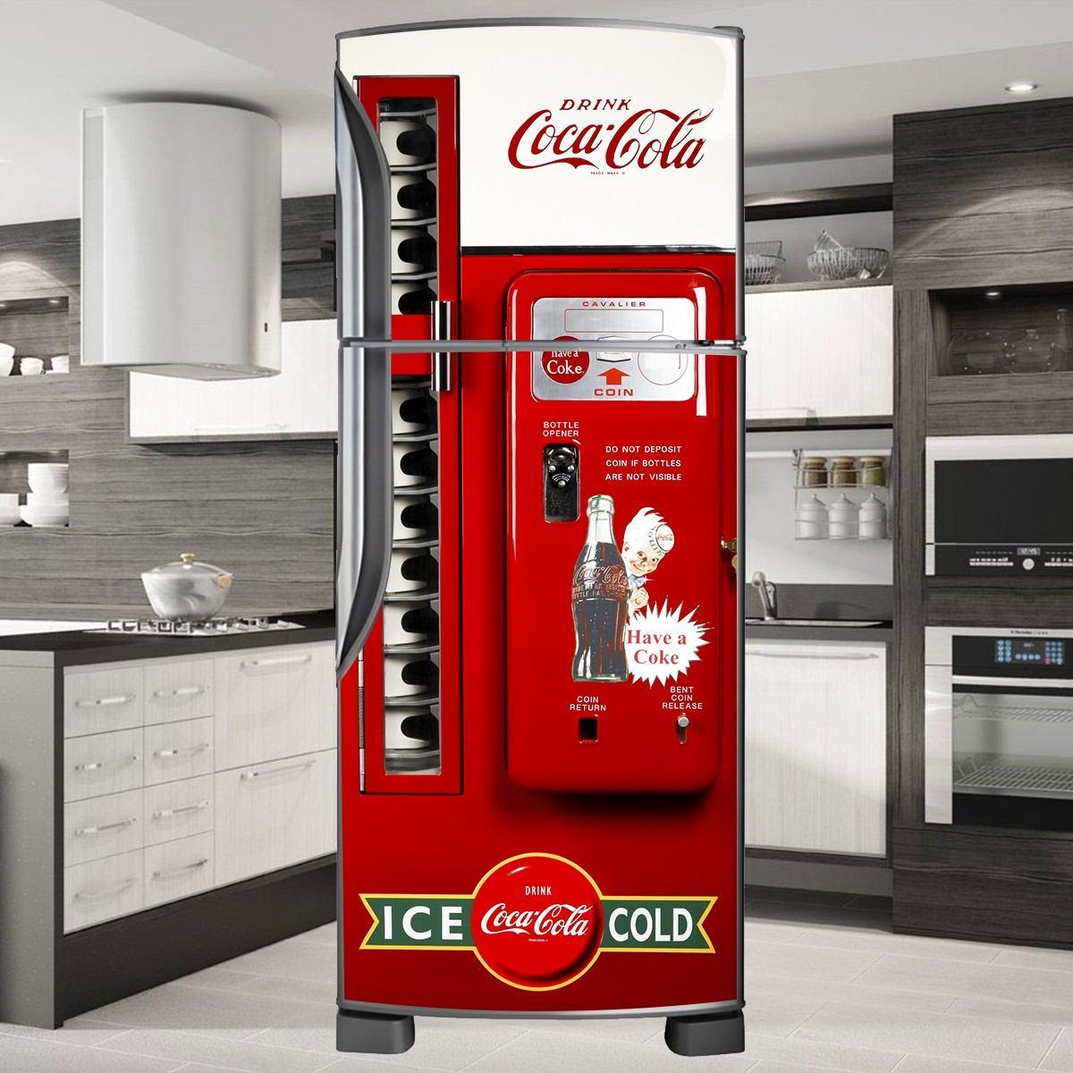 Aparador Ikea Blanco ~ Adesivo Decorativo De Geladeira E Freezer P Envelopamento R$ 85,00 no MercadoLivre