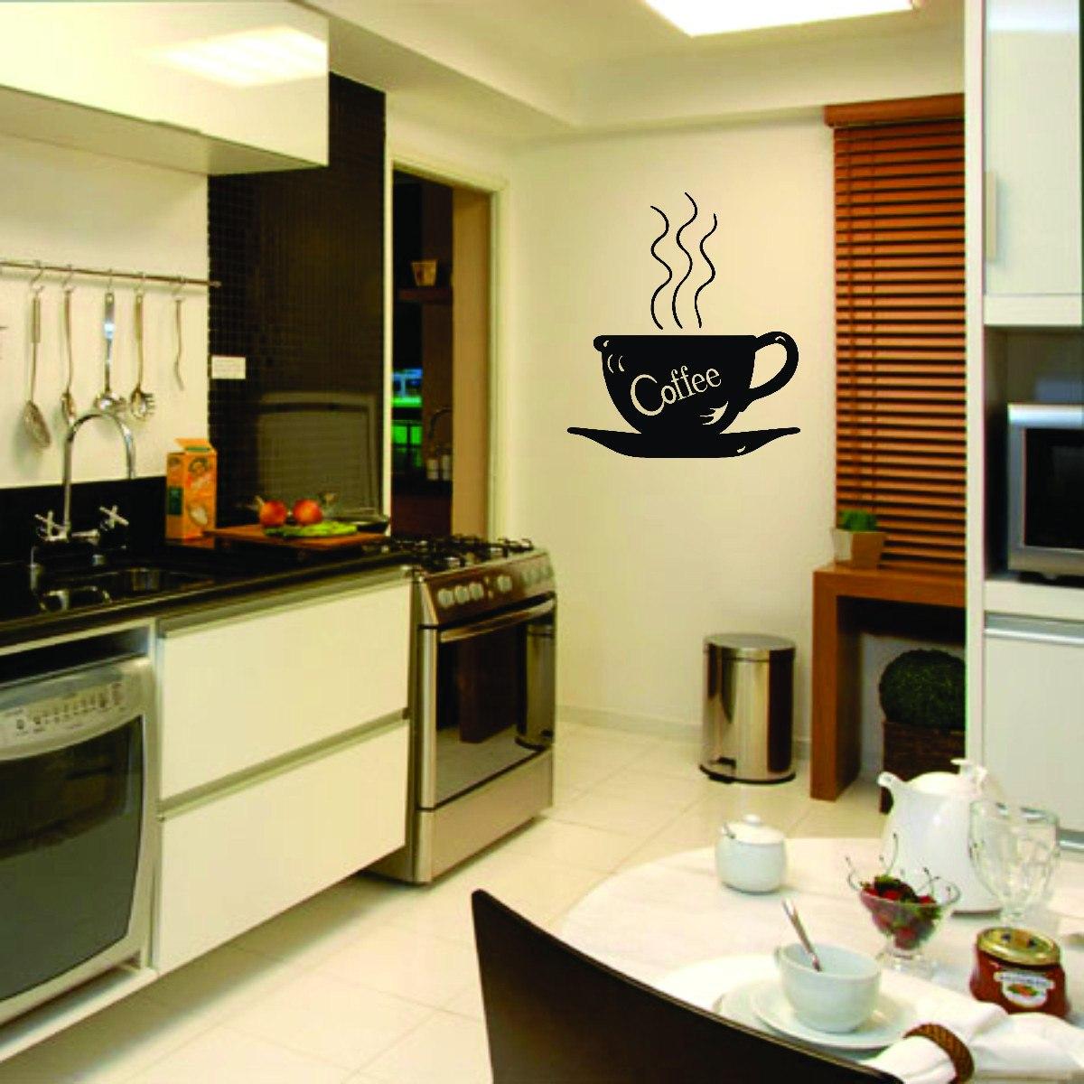 #B64907 Adesivo Decorativo De Parede Cozinha Cafe Coffee Pia Armário R$ 18  1200x1200 px Imagens De Armários De Cozinha_977 Imagens