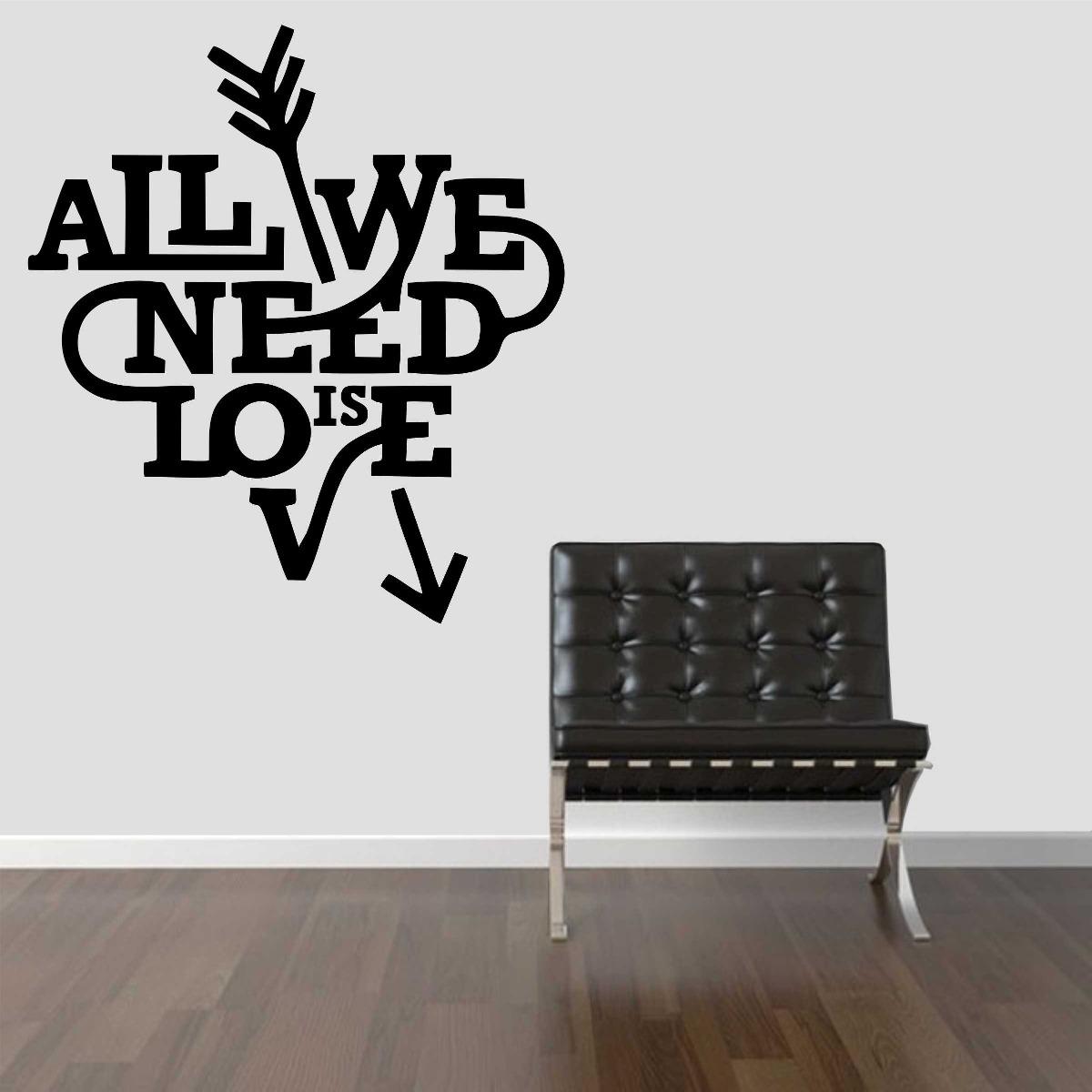 Adesivo De Parede All You Need Is Love ~ Adesivo Decorativo Parede Frase All You Need Is Love Beatles R$ 24,99 no MercadoLivre