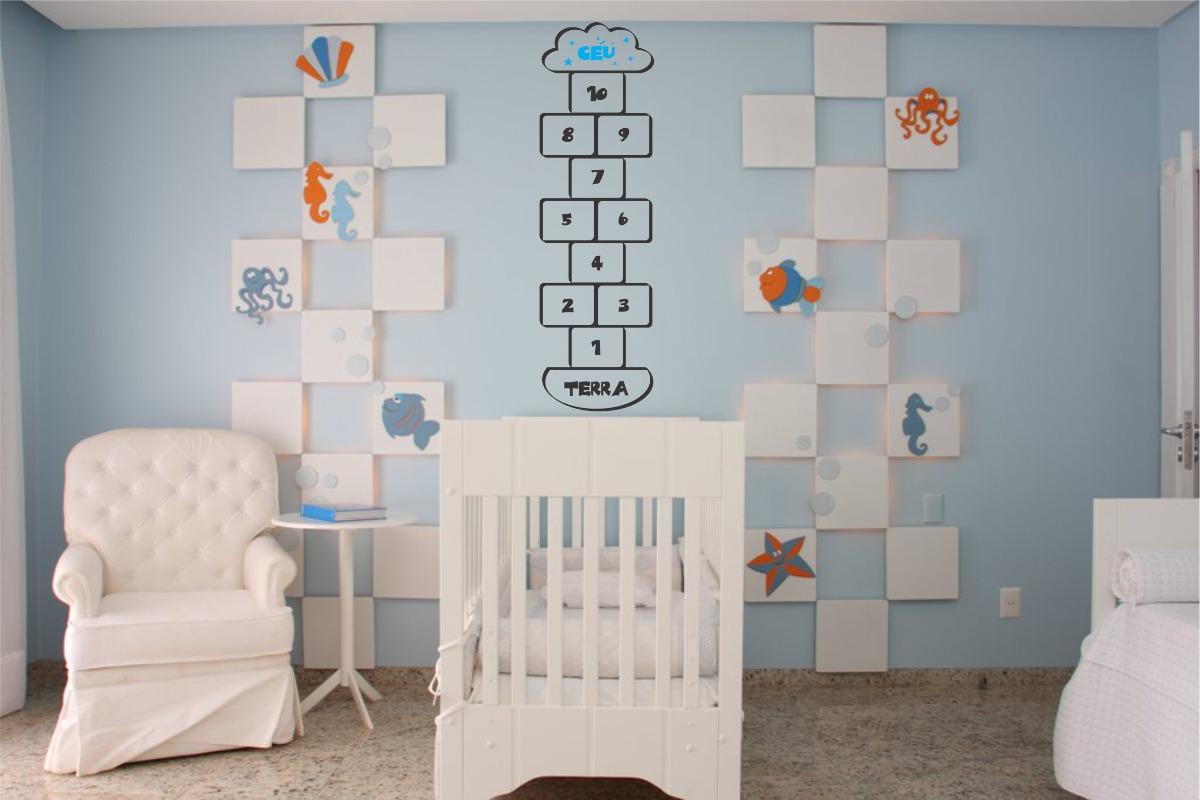 Artesanato Infantil Passo A Passo ~ Adesivo Decorativo Parede Quarto Infantil Amarelinha Nuvem R$ 24,99 no MercadoLivre