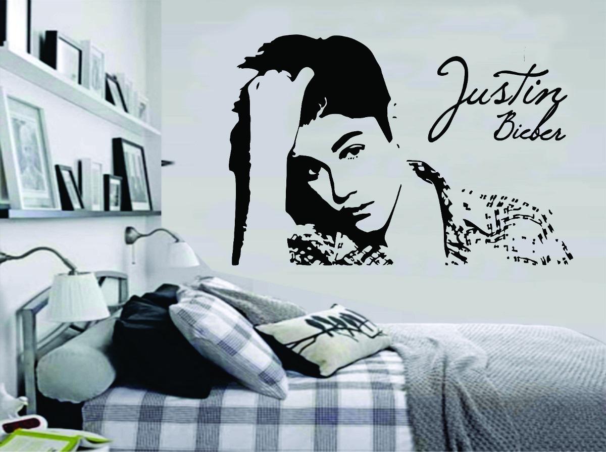Adesivo Decorativo Parede Quarto Música Justin Bieber R  ~ Ver Adesivos De Parede Para Quarto