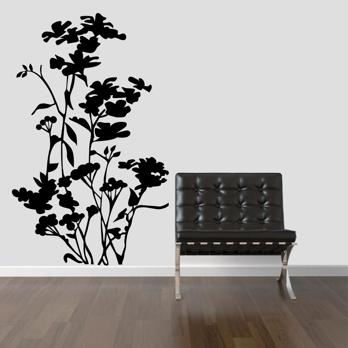 Aparador Verde Envejecido ~ Adesivo Decorativo Parede Quarto Sala Floral Flor Galho Rosa R$ 23,99 no MercadoLivre