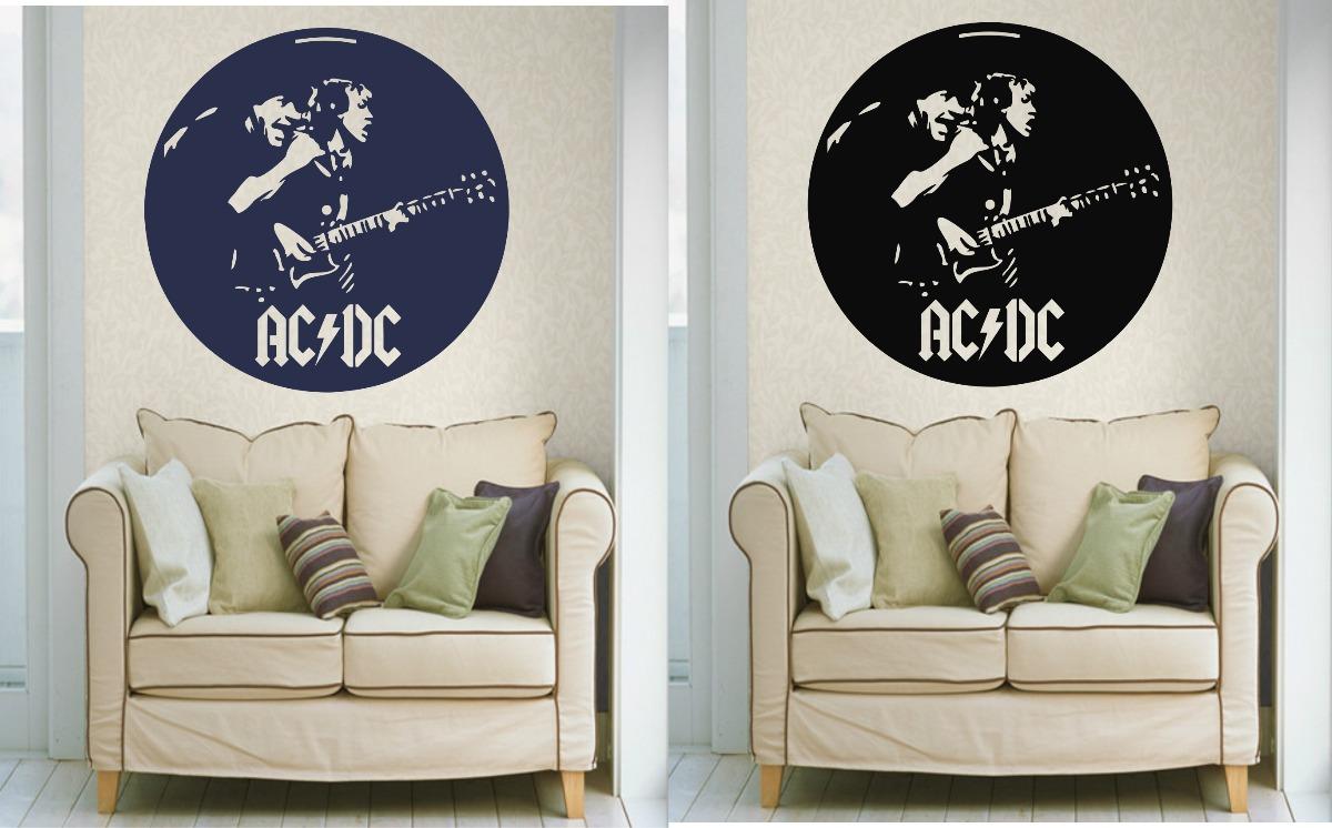 Adesivo decorativo parede quarto sala porta rock banda ac - Bandas protectoras de paredes ...