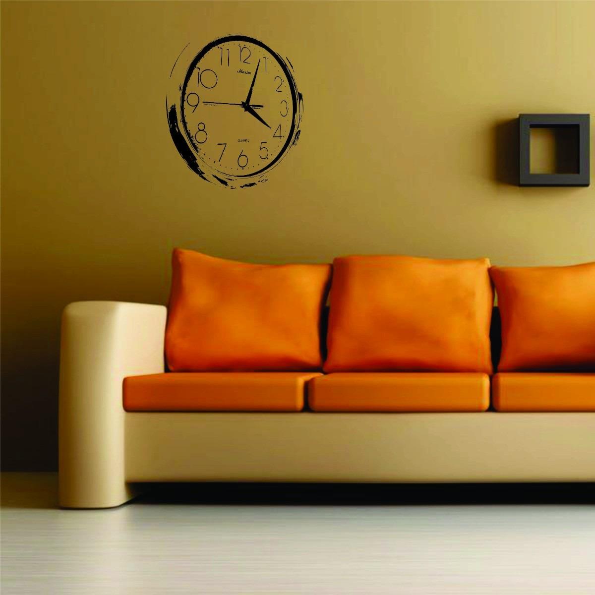 Artesanato Loja Sp ~ Adesivo Decorativo Parede Relógio Sala Quarto Cozinha R$ 19,98 no MercadoLivre