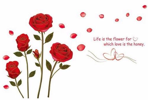 Armario Farmacia Antiguo ~ Adesivo Flor Rosa Vermelha Parede Pronta Entrega R$ 49