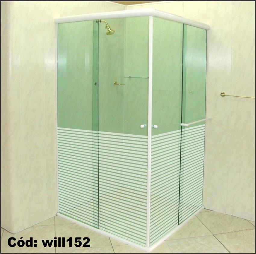 Adesivo jateado listras p box portas de vidro will152 r for Adesivos p porta de vidro