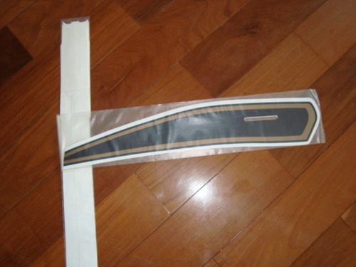 Adesivo Jogo De Faixa Honda Cg 1977 Laranja / Azul