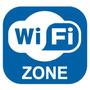 Adesivo Loja Ambiente Wireless Rede Sem Fio Wifi Wi-fi Zone