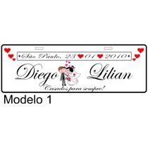 Placa Personalizada,carro Da Noiva, Casamento, Lembrancinhas
