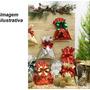Embalagem Saco Presentes Metalizados Natal 25x36 Com 100 Un