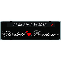 Placa Personalizada,carro,casamento,lembrancinhas, Adesivos