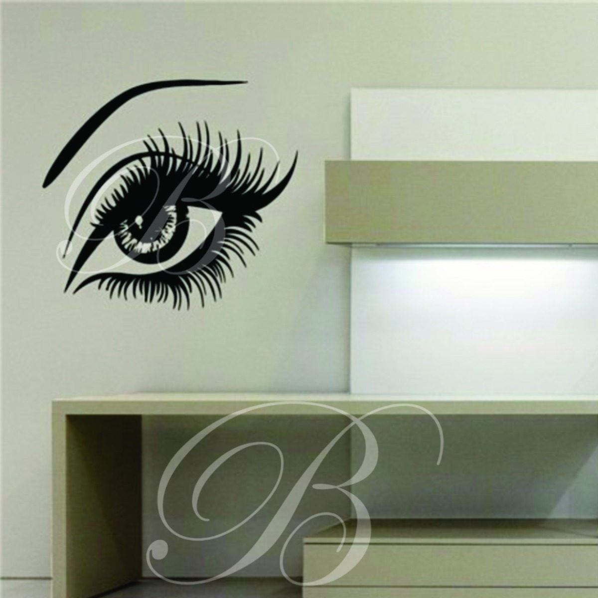 Adesivos decorativos papel de parede mulher floral for Papel para paredes salon