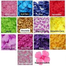 100 Pétalas Rosas Flor Artificiais Seda Várias Cores Decora
