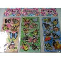 Borboletas Kit Adesivo Stickers C/ 12 Cartelas