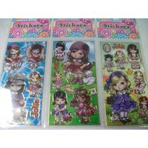 Jolie Kit Cartela Adesivo Stickers C/ 12 Cartelas