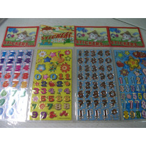Numeros Diversos Kit Adesivo Stickers C/ 12 Cartelas