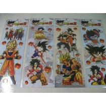 Dragon Bal Z Kit Cartela Adesivo Stickers C/ 12 Cartelas
