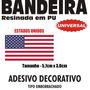 Adesivo Bandeira Estados Unidos Res 5,7 X 3,8cm Frete Gratis