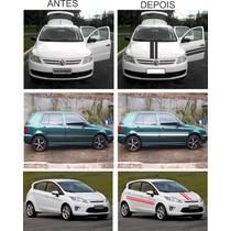 Faixa Adesiva Para Capô Lateral Teto Carro Kit Completo
