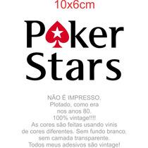 Adesivo Poker Pokerstars Notebook Celular Carro Vidro Etc