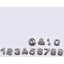 Números E Simbolos Cromados De 3 Cm Altura 1un Letra