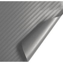 Adesivo Envelopamento Fibra Carbono Prata 0.5x1.5m Fretefree