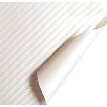 Adesivo Envelopamento Fibra De Carbono Branca Tuning 1x2m