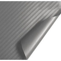 Adesivo Envelopamento Fibra Carbono Prata 1x1m Frete Free