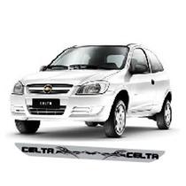 Adesivo Protetor Soleira Tri01 Porta Carro Chevrolet Celta