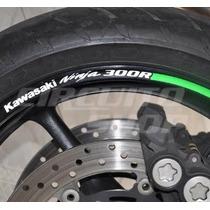 Friso Adesivo Refletivo Roda Moto Rec02 Kawasaki Ninja 300 R