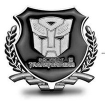 Adesivo Tuning Liga De Metal Transformers Autobot - Par