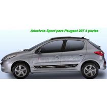 Acessórios Peugeot 207 4/p Adesivo Lateral Tuning Carro 207